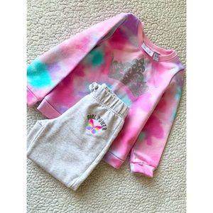 4T tie-dye sweater matching sweats